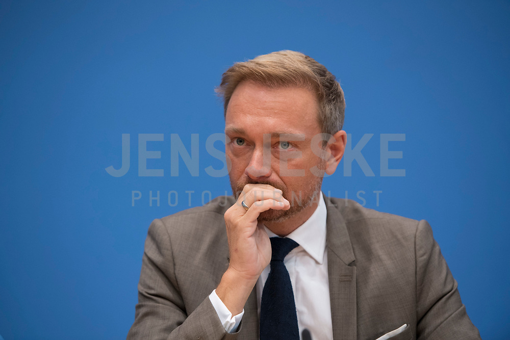 DEU, Deutschland, Germany, Berlin, 25.09.2017: Christian Lindner (FDP) in der Bundespressekonferenz zu den Ergebnissen der Bundestagswahlen.