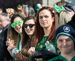 London, March 13th 2016. The annual St Patrick's Day Parade takes place in the Capital with various groups from the Irish community as well as contingents from other ethnicities taking part in a procession from Green Park to Trafalgar Square. ©Paul Davey<br /> FOR LICENCING CONTACT: Paul Davey +44 (0) 7966 016 296 paul@pauldaveycreative.co.uk