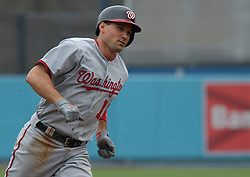 June 7, 2017 - Los Angeles, California, U.S. - Washington Nationals' Ryan Zimmerman rounds third base after hitting a solo home run against the Los Angeles Dodgers in the second inning of a Major League baseball game at Dodger Stadium on Wednesday, June 7, 2017 in Los Angeles. (Photo by Keith Birmingham, Pasadena Star-News/SCNG) (Credit Image: © San Gabriel Valley Tribune via ZUMA Wire)