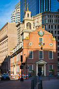 The Old State House is an historic government building located at the intersection of Washington and State Streets in Boston, Massachusetts, USA. Built in 1713, it is the oldest surviving public building in Boston, and the seat of the state's legislature until 1798. It is now a history museum operated by the Bostonian Society, a nonprofit whose primary focus is the museum. It is one of many historic landmarks that can be visited along the Freedom Trail.