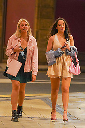 © Licensed to London News Pictures. 24/09/2020. Leeds, UK. Revellers walk in the city center of Leeds. Prime Minister Boris Johnson announced that from Thursday, 24 September, all pubs, bars and restaurants will close at 22:00 pm in England, following a spike in coronavirus cases.  Photo credit: Ioannis Alexopoulos/LNP