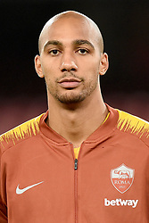 October 28, 2018 - Naples, Naples, Italy - Steven N'Zonzi of AS Roma during the Serie A TIM match between SSC Napoli and AS Roma at Stadio San Paolo Naples Italy on 28 October 2018. (Credit Image: © Franco Romano/NurPhoto via ZUMA Press)