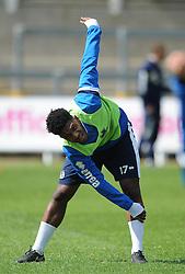 Bristol Rovers' Ellis Harrison warms up during training - Photo mandatory by-line: Dougie Allward/JMP - Mobile: 07966 386802 - 12/05/2015 - SPORT - Football - Bristol - Memorial Stadium - Bristol Rovers v Grimbsy Town - Vanarama Football Conference