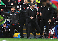 Football - 2017 / 2018 Premier League - Crystal Palace vs. West Ham United<br /> <br /> A dejected West ham manager Slaven Bilic can't believe Palace have scored their equalising goal in the last minute of extra time at Selhurst Park.<br /> <br /> COLORSPORT/ANDREW COWIE