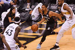 January 11, 2019 - Toronto, Ontario, Canada - Spencer Dinwiddie #8 of the Brooklyn Nets with the ball during the Toronto Raptors vs Brooklyn Nets NBA regular season game at Scotiabank Arena on January 11, 2019, in Toronto, Canada (Toronto Raptors win 122-105) (Credit Image: © Anatoliy Cherkasov/NurPhoto via ZUMA Press)