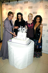 Left to right, EMMA THOMPSON, NIGELLA LAWSON, ANNIE LENNOX and THANDIE NEWTON at the 10th Anniversary Party of the Lavender Trust, Breast Cancer charity held at Claridge's, Brook Street, London on 1st May 2008.<br />