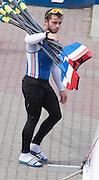 Poznan. Poland. Blade/Oar carring, FISA 2015 European Rowing Championships. Venue Lake Malta. 28.05.2015. [Mandatory Credit: Peter Spurrier/Intersport-images.com] images.com]