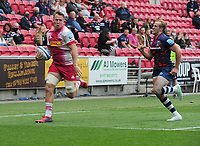 Rugby Union - 2020 / 2021 Gallagher Premiership - Semi-Final - Bristol Bears vs Harlequins - Ashton Gate<br /> <br /> Harlequins' Alex Dombrandt runs over for their consolation try in the first half<br /> <br /> Credit : COLORSPORT/Andrew Cowie
