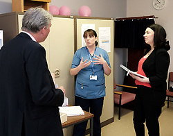 """Scottish Labour leader Richard Leonard and Health spokesperson Monica Lennon met with midwives in NHS Lanarkshire, ahead of a Scottish Labour debate which calls on the SNP Government to invest an additional £10 million for the implementation of Best Start and to investigate claims that midwives are not being given sufficient resources to do their jobs.<br /> <br /> Scottish Labour will use parliamentary time this week to call on the SNP Government to investigate reports that midwives do not have enough resources to do their jobs safely.<br /> <br /> Concerns have been raised in an open letter by midwives in NHS Lothian, which claim they do not have enough computers, equipment and pool cars.<br /> <br /> Scottish Labour have also called for an additional £10 million to be allocated towards the implementation of the Best Start recommendations, to ensure that midwives are given adequate time, training and resources.<br /> <br /> Scottish Labour Health Spokesperson Monica Lennon said:<br /> <br /> """"Midwives play a crucial role in caring for women and babies. The best way of recognising their contribution to our NHS is by making sure they have enough resources to do their jobs safely.<br /> <br /> """"That's why Scottish Labour is calling on the SNP Government to investigate reports about a lack of equipment and resources, and to provide an additional £10 million towards the implementation of the Best Start recommendations.<br /> <br /> """"The Health Secretary must listen to the concerns of midwives and take urgent action to address the workforce crisis.""""<br /> <br /> Pictured: Richard Leonard and Monica Lennon chat to bereavement specialist midwife Vicky Grove <br /> <br /> Alex Todd 
