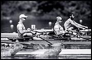 Lucerne, SWITZERLAND<br /> <br /> NOR M2X. Bow. Kjetil BORCH and Olaf TUFTE, at the start. 2016 European Olympic Qualifying Regatta, Lake Rotsee.<br /> <br /> Sunday  22/05/2016<br /> <br /> [Mandatory Credit; Peter SPURRIER/Intersport-images]