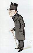 George Biddell Airy (1801-1892) English astronomer and geophysicist. Astronomer Royal 1835-1881. Cartoon by 'Ape' (Carlo Pellegrini) for 'Vanity Fair' London, 13 November 1875.