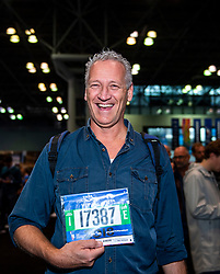 02-11-2018 USA: NYC Marathon We Run 2 Change Diabetes day 1, New York<br /> The day to get up for your number at the Expo / Hans