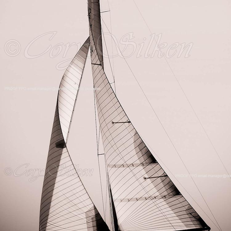 Northern Light sailing at the Nantucker 12 Metre Regatta.
