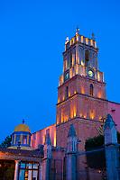 Templo de San Rafael on the main square (Plaza Principal), San Miguel de Allende, Mexico