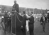 H2478<br /> Opening of the 1932 Tailteann Games by Cardinal MacRory. 1932 (Part of the Independent Newspapers Ireland/NLI Collection)