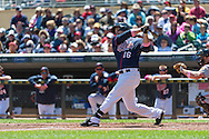 Josh Willingham #16 of the Minnesota Twins bats against the Baltimore Orioles on May 12, 2013 at Target Field in Minneapolis, Minnesota.  The Orioles defeated the Twins 6 to 0.  Photo: Ben Krause