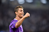 Cristiano Ronaldo of Real Madrid celebrates scoring the opening goal during the UEFA Champions League Final match between Real Madrid and Juventus at the National Stadium of Wales, Cardiff, Wales on 3 June 2017. Photo by Giuseppe Maffia.<br /> <br /> Giuseppe Maffia/UK Sports Pics Ltd/Alterphotos