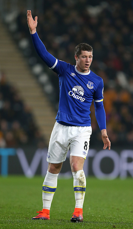 Ross Barkley of Everton during the English Premier League match at the KCOM Stadium, Kingston Upon Hull. Picture date: December 30th, 2016. Pic Simon Bellis/Sportimage