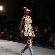 Designer Preline Showcases it latest collection at the Africa Fashion Week London (AFWL) at Freemasons' Hall on 11 August 2018, London, UK.