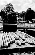 Henley On Thames. Oxfordshire/ Berkshire. United Kingdom.  Wooden stakes used to align the Henley Royal Regatta couse.  27/17.05.2017. General View, River Thames. <br /> <br /> <br /> [Mandatory Credit Peter SPURRIER/Intersport Images]