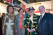 NO FEE PICTURES<br /> 23/1/16 Minister for Tourism Michael Ring and Maureen Ledwith, organiser of the Holiday World Show at the Youghal Tourism stand at the Holiday World Show at the RDS in Dublin. Picture: Arthur Carron