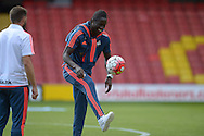 Eder of Swansea City during pre match warm up. Barclays Premier League, Watford v Swansea city at Vicarage Road in London on Saturday 12th September 2015.<br /> pic by John Patrick Fletcher, Andrew Orchard sports photography.