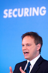 © Licensed to London News Pictures. 30/01/2015 London, UK. Conservative Party Chairman Grant Shapps makes a speech on '30 Days of Labour Chaos' at One Great George Street, London. Photo credit : Simon Jacobs/LNP