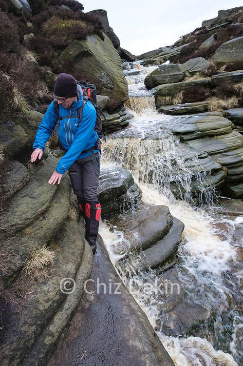 After heavy rainfall or under spring snow melt, the main Grindsbrook headwater (SK106876) can be a more exciting challenge! But in summer it's usually nearly dry.
