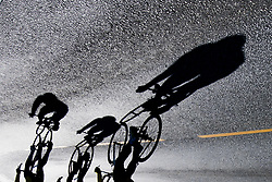 September 16, 2017 - Bergen, NORWAY - 170916 Shadows of athletes during the time trial training session on September 16, 2017 in Bergen..Photo: Jon Olav Nesvold / BILDBYRN / kod JE / 160014 (Credit Image: © Jon Olav Nesvold/Bildbyran via ZUMA Wire)