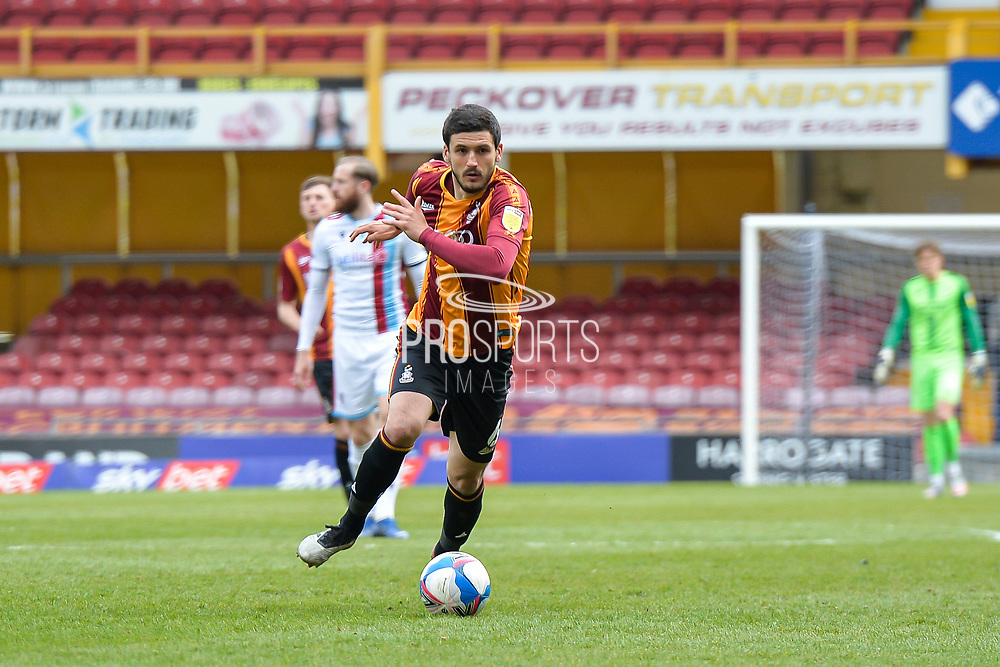 Anthony O'Connor during the EFL Sky Bet League 2 match between Bradford City and Scunthorpe United at the Utilita Energy Stadium, Bradford, England on 1 May 2021.