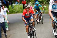 Domenico Pozzovivo (ITA - Bahrain - Merida) during the 101th Tour of Italy, Giro d'Italia 2018, stage 14, San Vito Al Tagliamento - Monte Zoncolan 181 km on May 19, 2018 in Italy - Photo Luca Bettini / BettiniPhoto / ProSportsImages / DPPI