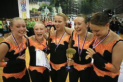 Northern Lights Junior Dance, Finland, first place in Junior dance during final ceremony at European Cheerleading Championship 2008, on July 5, 2008, in Arena Tivoli, Ljubljana, Slovenia. (Photo by Vid Ponikvar / Sportal Images).