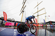 Start Time Trial Women 32,3 km, Tatiana Jasekova (Slovakia) during the Road Cycling European Championships Glasgow 2018, in Glasgow City Centre and metropolitan areas Great Britain, Day 7, on August 8, 2018 - photo Luca Bettini / BettiniPhoto / ProSportsImages / DPPI<br /> - restriction - Netherlands out, Belgium out, Spain out, Italy out