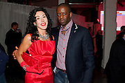 HELEN DAVID; ADRIAN LESTER, Tunnel of Love. Funfair party The Mending Broken Hearts appeal In aid of the British Heart Foundation. Victoria House, Bloomsbury. London. 17 May 2011. <br /> <br />  , -DO NOT ARCHIVE-© Copyright Photograph by Dafydd Jones. 248 Clapham Rd. London SW9 0PZ. Tel 0207 820 0771. www.dafjones.com.