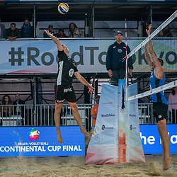 Tom van Walle (2) of Belgium in action during CEV Continental Cup Final Day 1 - Women on June 23, 2021 in The Hague