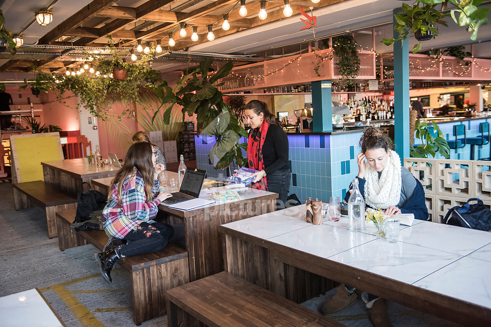 West food and drink outlet at Peckham Levels, a former car park turned into a creative hub.<br /> Picture by Daniel Hambury/Stella Pictures Ltd 07813022858<br /> 10/01/2018