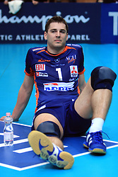 Andrej Flajs at volleyball match of CEV Indesit Champions League Men 2008/2009 between Trentino Volley (ITA) and ACH Volley Bled (SLO), on November 4, 2008 in Palatrento, Italy. (Photo by Vid Ponikvar / Sportida)