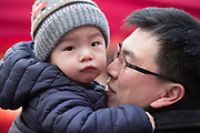 NO FEE PICTURES                                                                                                                                                                  26/1/20 Eric Lee and his 15 month old son Aidan, Parnell square celebrating the Chinese New Year, the year of the Rat at the New Years festival at Hill street in Dublin's north inner city. Picture: Arthur Carron
