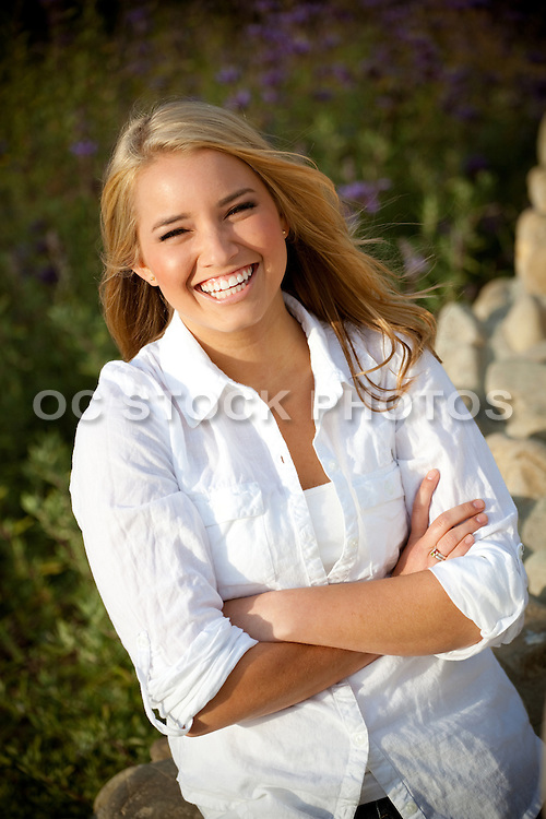 Cute And Smiling Blonde Tee Girl