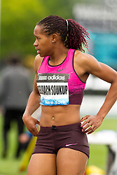 adidas Grand Prix Diamond League professional track & field meet: womens long jump, Janay DELOACH SOUKUP, USA