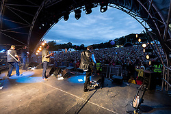 The Proclaimers performing at Party At The Palace Music Festival in Linlithgow Palace grounds on Sat 13th August 2016.<br /> <br /> The Proclaimers are a Scottish band composed of twin brothers Charlie and Craig Reid<br /> <br /> Alan Rennie/ EEm