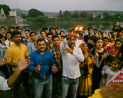 People celebrating Dussehra in Chittorgarh. Dussehra is a Hindu celebration and signifies the day of the victory of truth and justice when Lord Rama was successful in killing the demon king Ravana in the famous Indian epic of Ramayana.