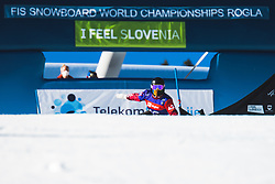 Katrina Gerencser (CAN) during parallel slalom FIS Snowboard Alpine World Championships 2021 on March 2nd 2021 on Rogla, Slovenia. Photo by Grega Valancic / Sportida