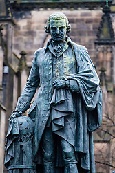 Statue of Adam Smith on the Royal Mile in Old Town of Edinburgh, Scotland, United Kingdom