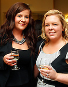 Lisa Meehan of The Crown Plaza Hotel and Natalie Smith of Clontarf Castle at the EFQM Ireland Excellence Awards ceremony in association with Fáilte Ireland and the Centre for Competitiveness at the Galway Bay Hotel on Friday night. Photo:- Andrew Downes Photography / No Fee