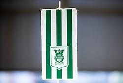 Flag of NK Olimpija Ljubljana, on January 12, 2021 in Dunajska 159, Ljubljana, Slovenia. Photo by Vid Ponikvar / Sportida