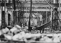 Interior shot of the ruins of the Coliseum Theatre on Prince's St, directly behind the GPO. Having been destroyed by fire, it never reopened. (Part of the Independent Newspapers Ireland/NLI Collection)