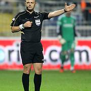 Referee Tolga Ozkalfa during their Turkish superleague soccer match Kasimpasa between Besiktas at the Recep Tayyip Erdogan stadium in Istanbul Turkey on Friday 26 October 2012. Photo by TURKPIX