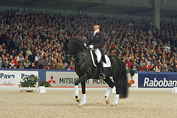 Clinic Van Grunsven Anky - IPS Painted Black<br /> KWPN Hengstenkeuring - 's Hertogenbosch 2008<br /> Photo © Hippo Foto