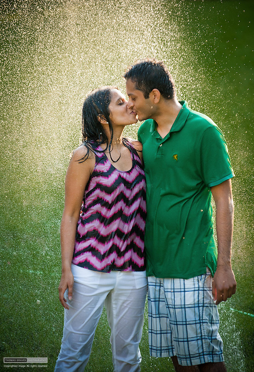 Engagement portraits of Krupa Patel & Ronak Patel, taken near Ronak's home in Reisterstown, Maryland. Krupa & Ronak will be married in 2013. All photographs ©2012 Thomas Graves